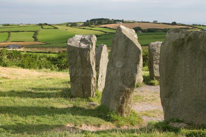 Cerchio di pietra di Drombeg, Irlanda fotografia stock libera da diritti
