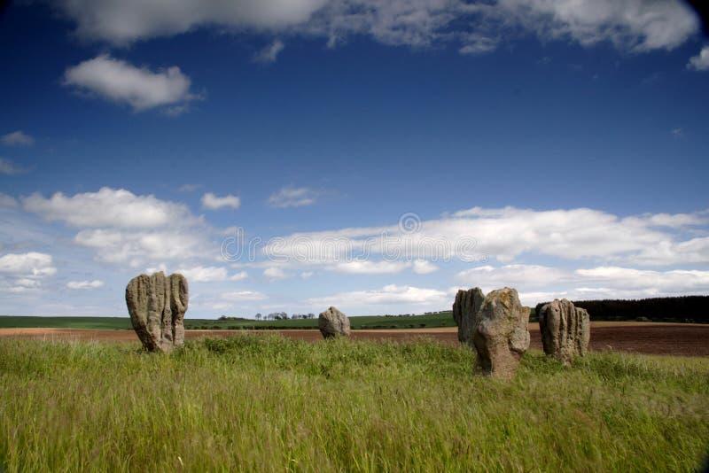 Cerchio di pietra di Duddo fotografie stock libere da diritti