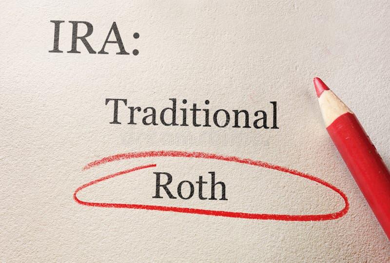 Cerchio di Roth IRA fotografie stock libere da diritti