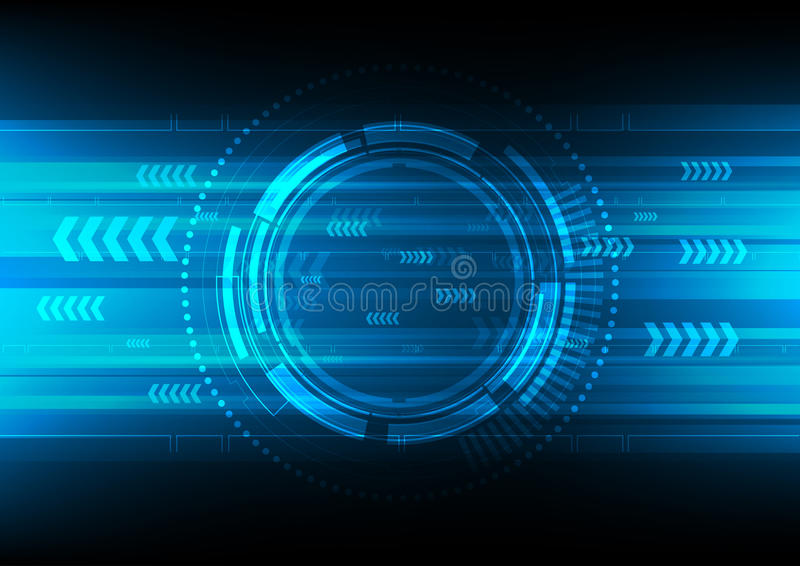 Cerchio di tecnologia e fondo di tecnologia illustrazione vettoriale