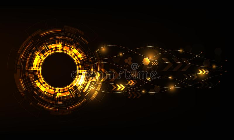 Cerchio di tecnologia di vettore con varia progettazione tecnologica royalty illustrazione gratis