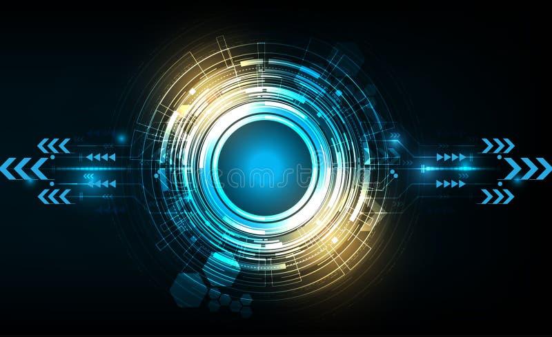 Cerchio di tecnologia di vettore con vario tecnologico illustrazione vettoriale