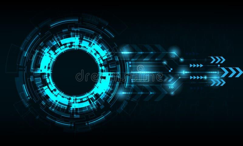 Cerchio di tecnologia di vettore con vario tecnologico royalty illustrazione gratis