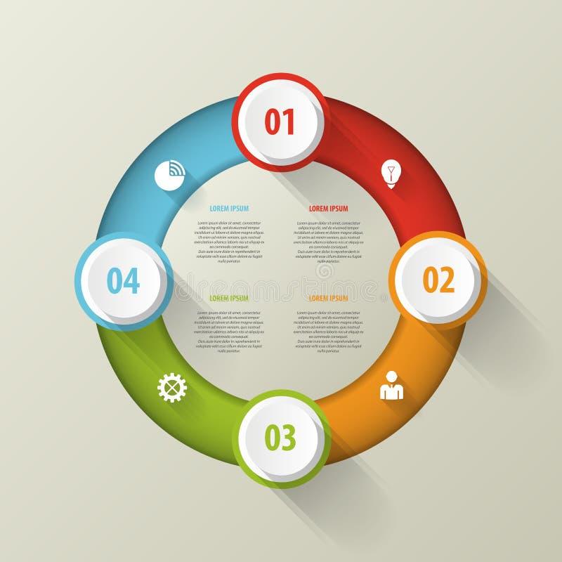 Cerchio di vettore infographic Modello di affari illustrazione di stock