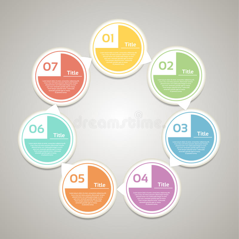 Cerchio di vettore infographic Modello per il diagramma, il grafico, la presentazione ed il grafico Concetto di affari con 7 opzi royalty illustrazione gratis