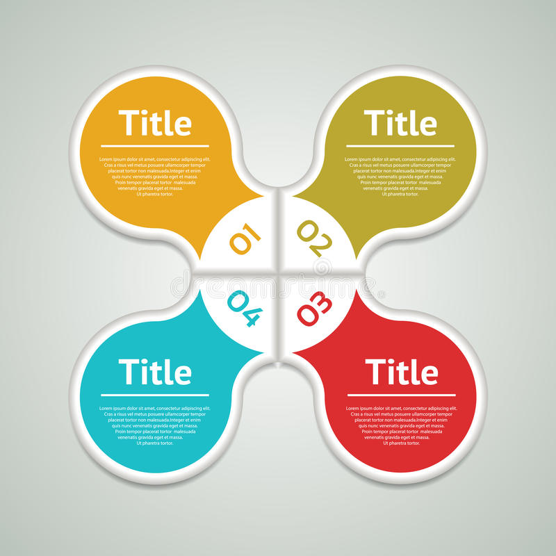 Cerchio di vettore infographic Modello per il diagramma, il grafico, la presentazione ed il grafico Il concetto di affari con qua royalty illustrazione gratis