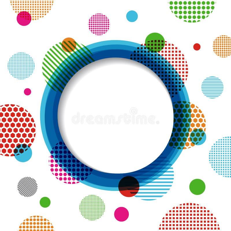 Cerchio e fondo tocco illustrazione di stock