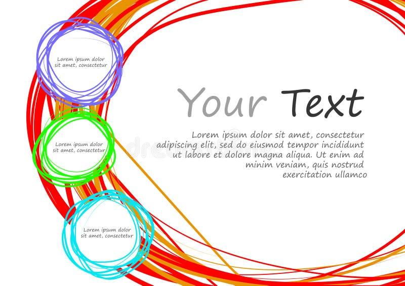 Download Cerchio E Spazio Di Scarabocchio Per Testo Illustrazione Vettoriale - Illustrazione di elemento, cerchi: 56878500