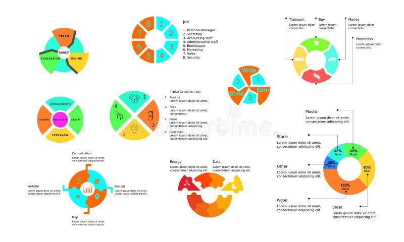 Cerchio infographic per corporativo fotografia stock