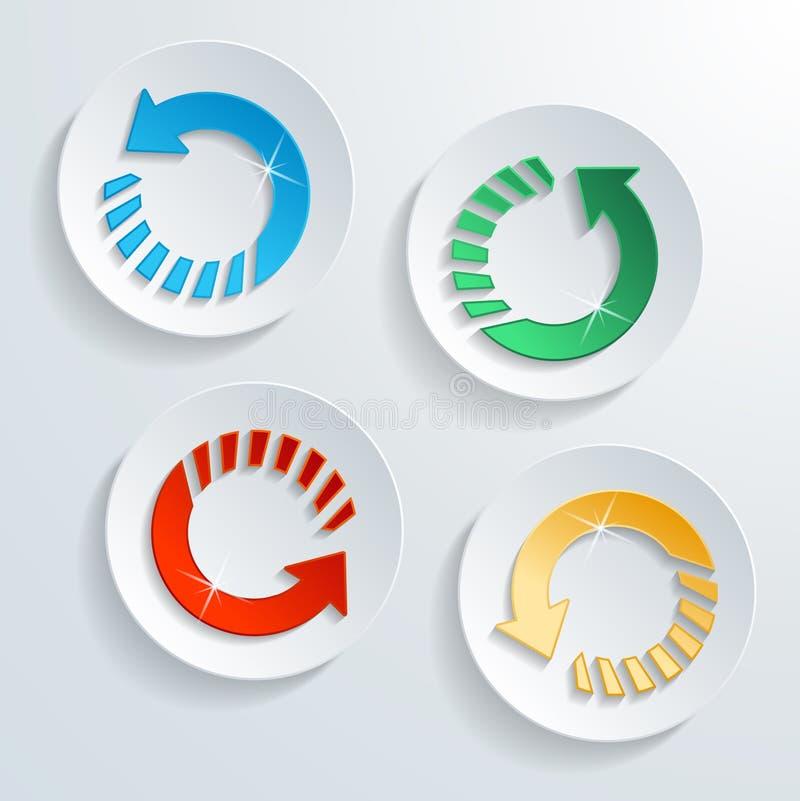 Cerchio moderno del bottone illustrazione di stock