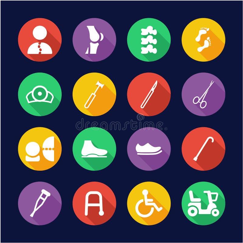 Cerchio piano di progettazione delle icone ortopediche royalty illustrazione gratis