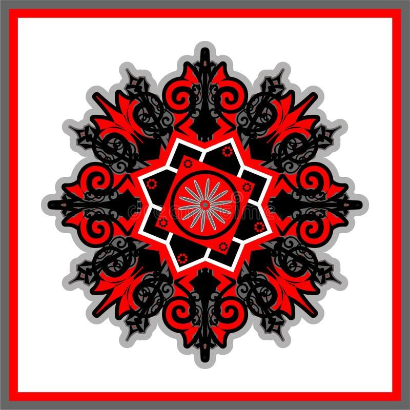 Cerchio rosso dell'ornamento illustrazione vettoriale