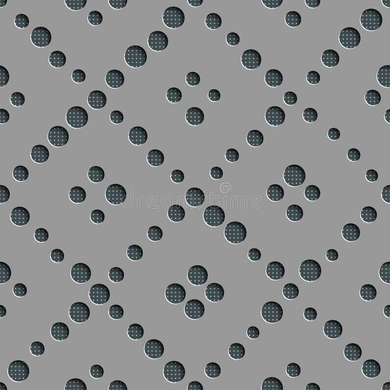Cerchio senza cuciture e modello diagonale della banda illustrazione vettoriale