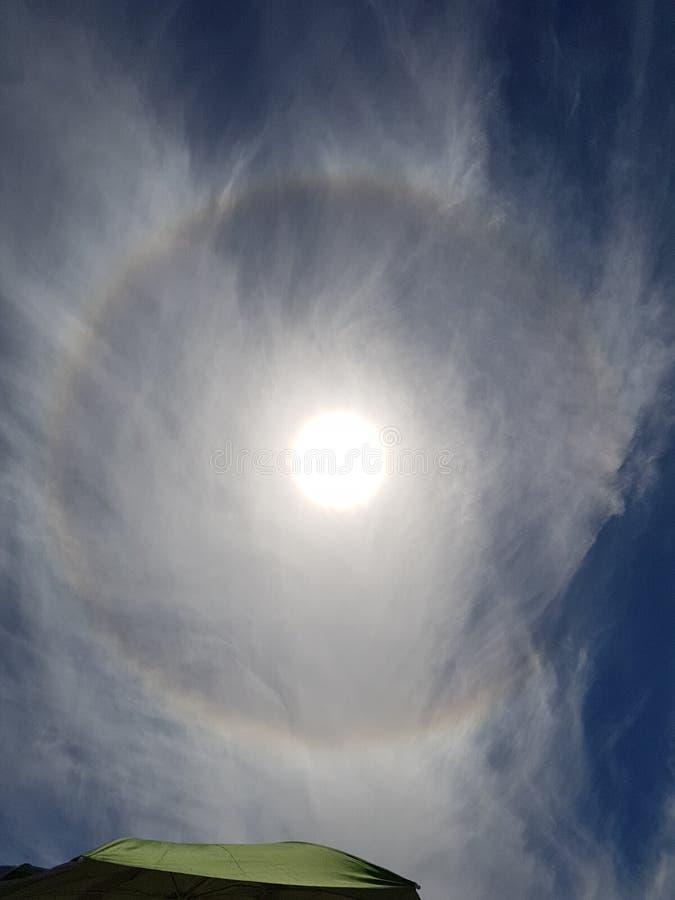 Cerchio solare fotografia stock libera da diritti