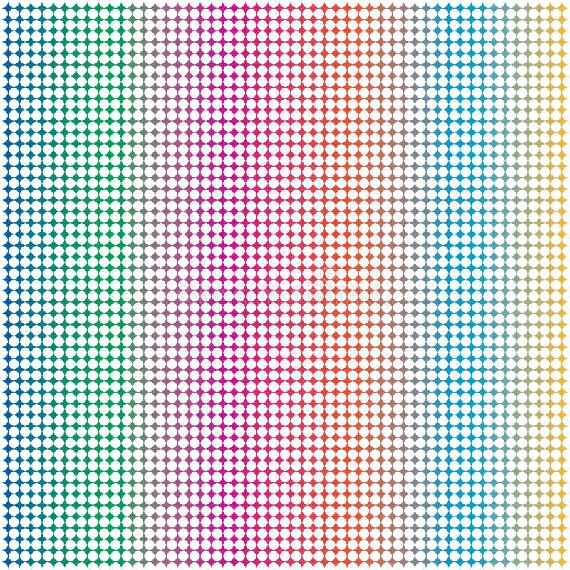 Cerchio variopinto Dots Mesh Grid Pattern Backgrou dell'arcobaleno astratto royalty illustrazione gratis