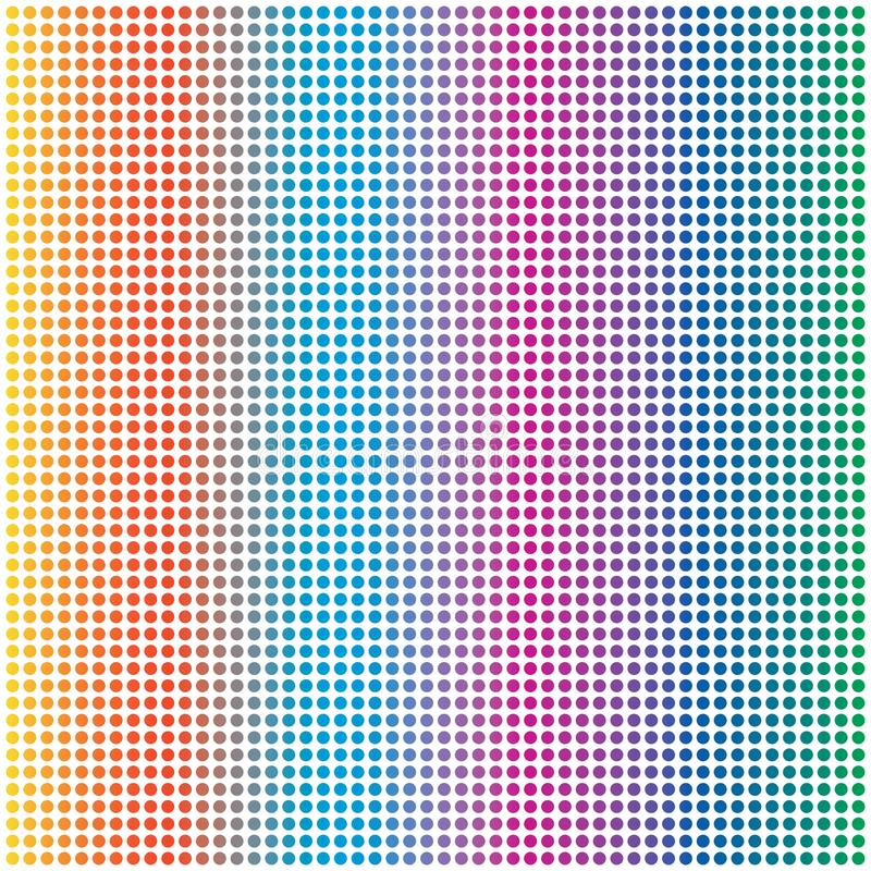 Cerchio variopinto Dots Pattern Background dell'arcobaleno astratto illustrazione vettoriale