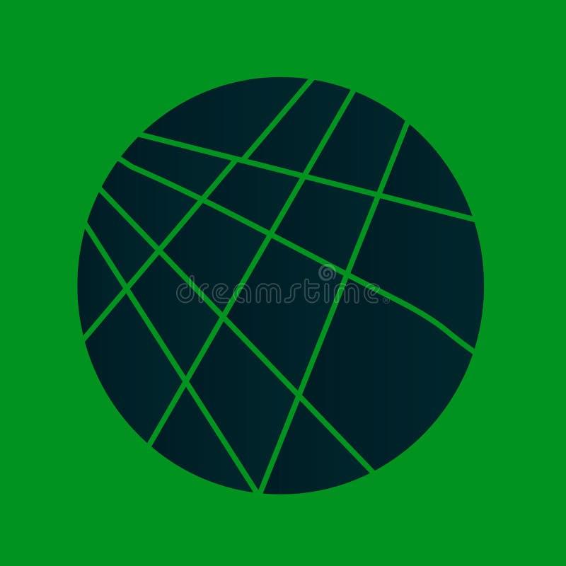 Cerchio verde affettato illustrazione vettoriale