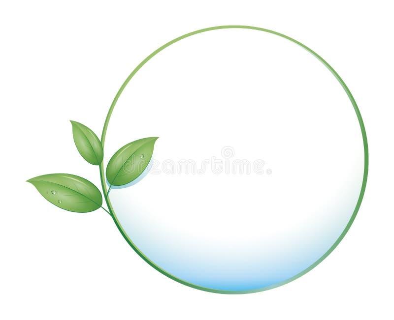 Cerchio verde del foglio illustrazione vettoriale