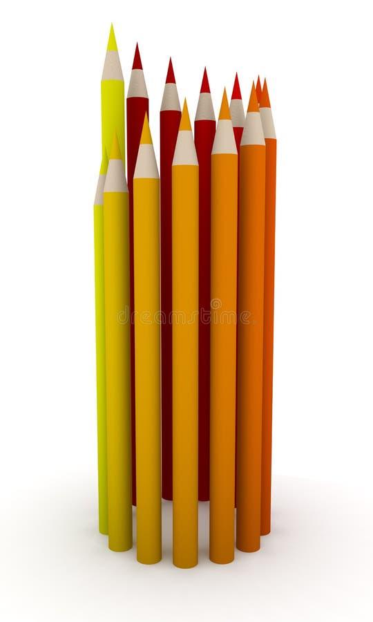 Cercle 2 de crayon illustration stock