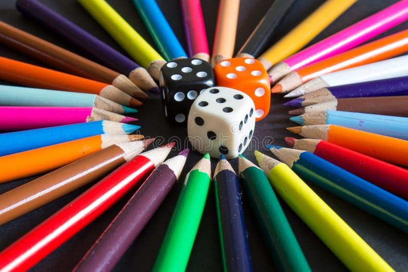 Cercle abstrait de couleur images stock