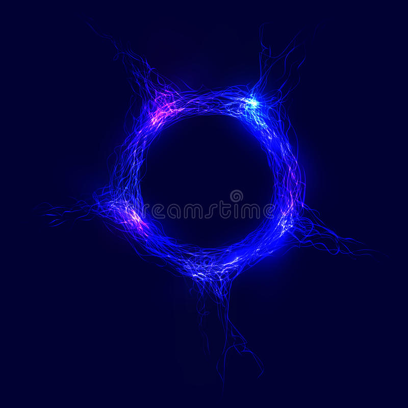 cercle abstrait des lignes complexes avec la lueur photographie stock