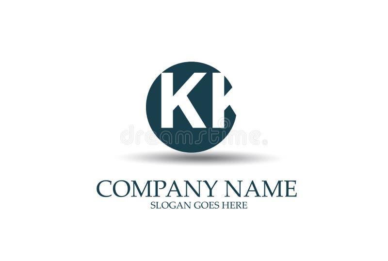 Cercle abstrait KK Logo Design Vector de lettre illustration libre de droits
