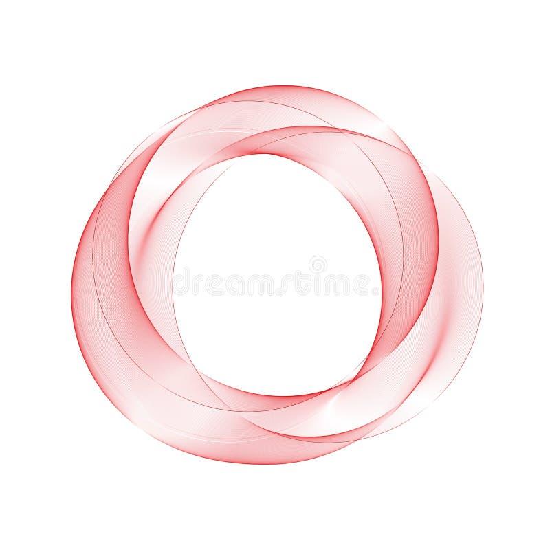 Cercle abstrait rouge Disposition pour faire de la publicit? Conception de brochure ENV 10 illustration libre de droits
