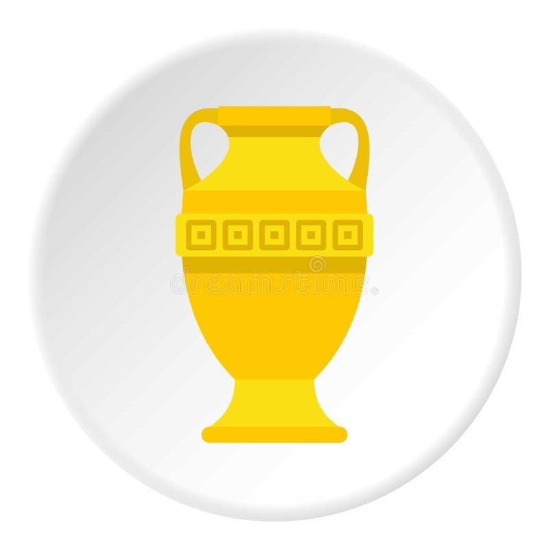 Cercle antique d'icône de vase à or illustration libre de droits