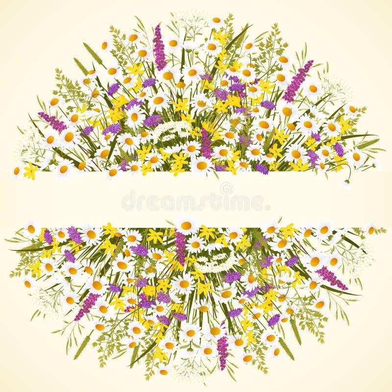 Cercle avec des fleurs illustration libre de droits