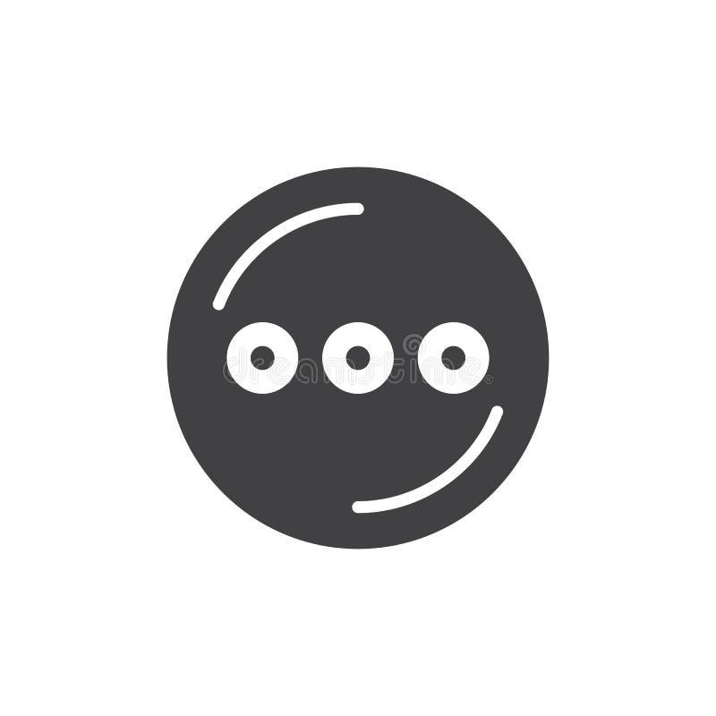 Cercle avec l'icône simple de trois points illustration de vecteur