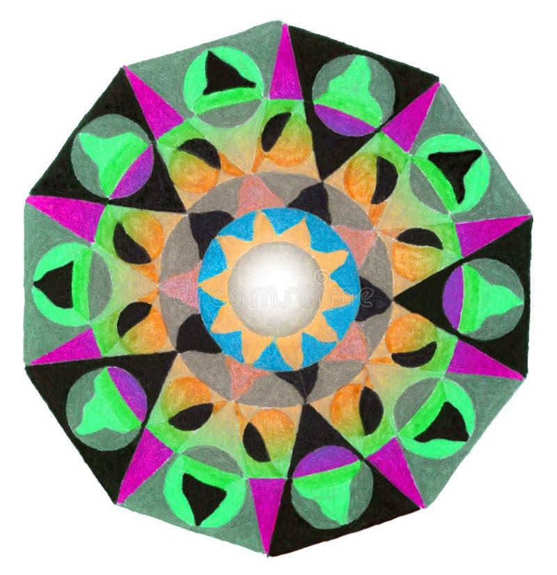 Cercle avec les bords droits illustration de vecteur