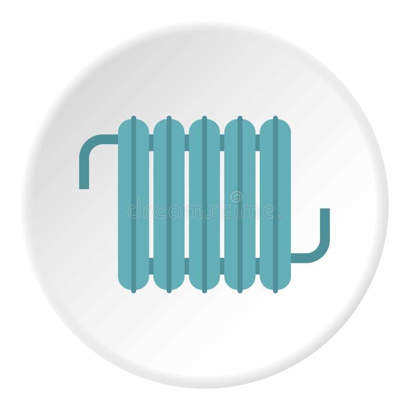 Cercle blanc d'icône de convecteur de chauffage illustration de vecteur