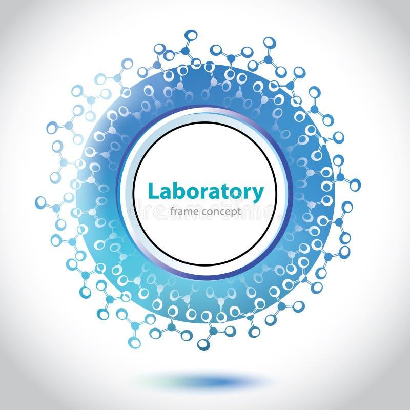 Cercle bleu-clair abstrait de laboratoire médical illustration stock
