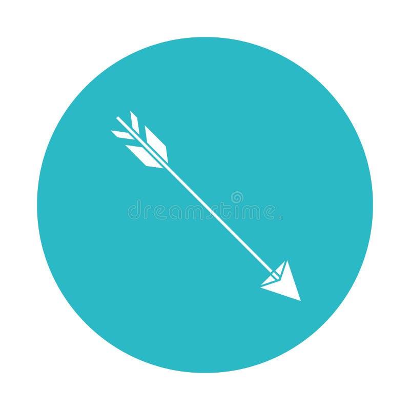 Cercle bleu-clair avec chasser la flèche illustration de vecteur