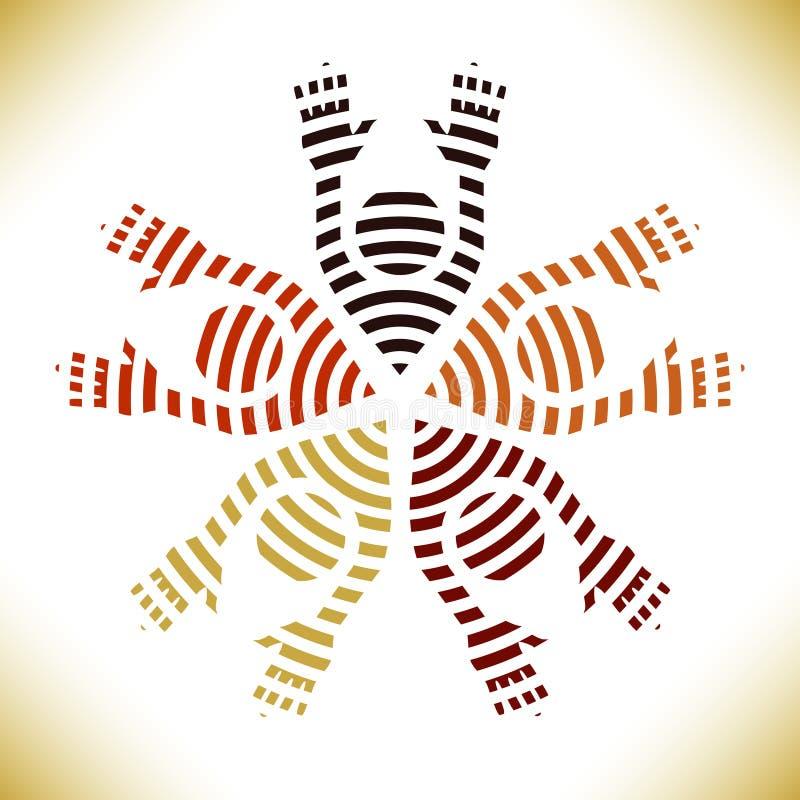 Cercle coloré des gens. illustration de vecteur
