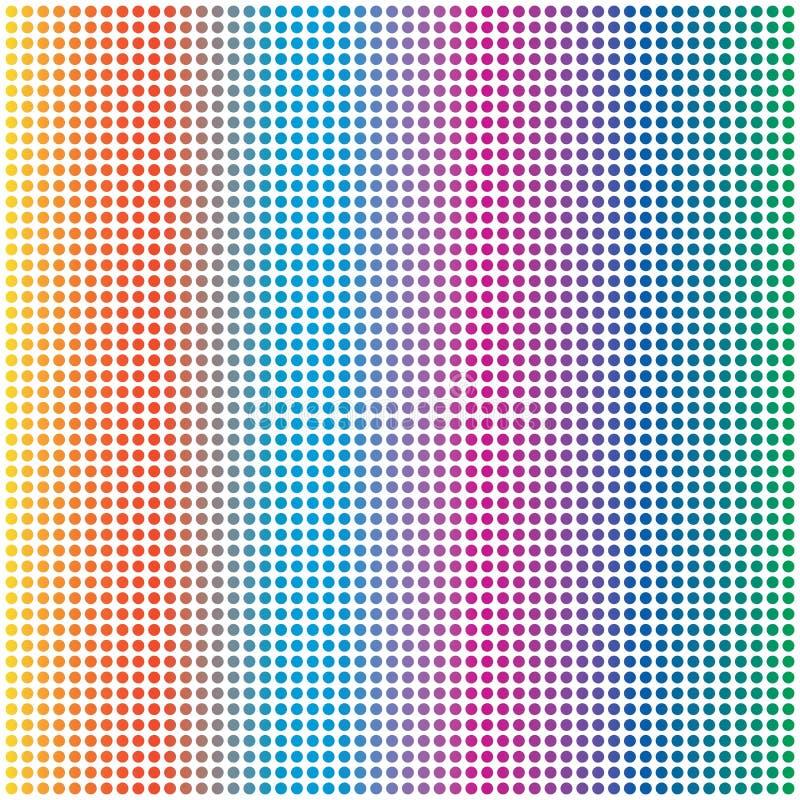 Cercle coloré Dots Pattern Background d'arc-en-ciel abstrait illustration de vecteur
