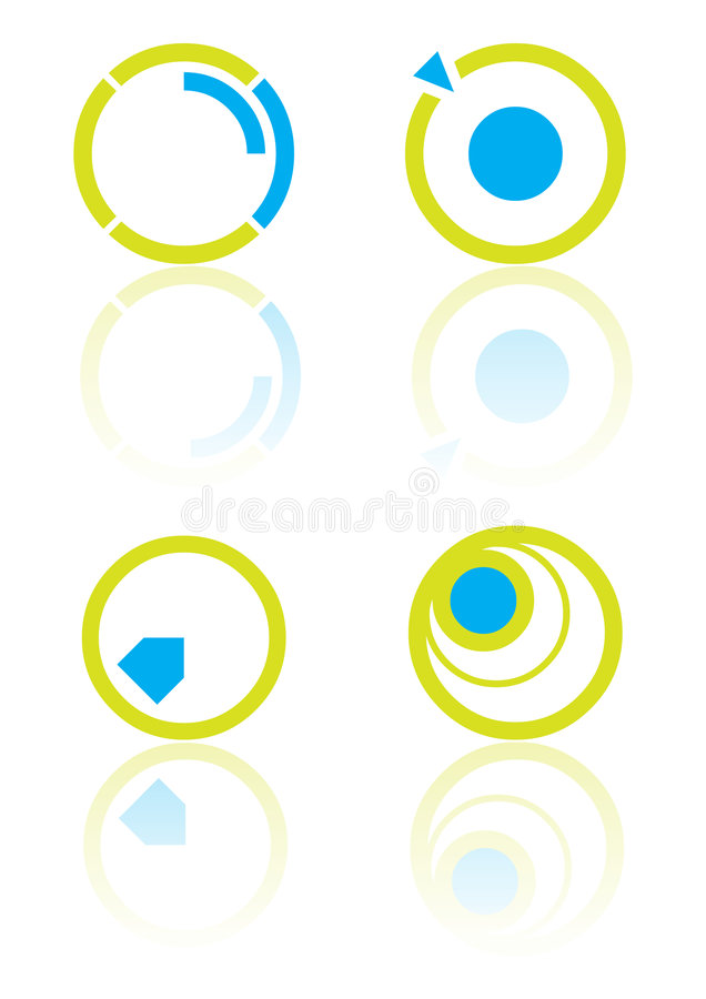 Cercle d'éléments de logo illustration stock