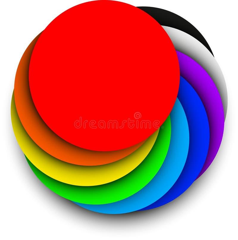 Download Cercle d'arc-en-ciel illustration de vecteur. Illustration du blanc - 56479184