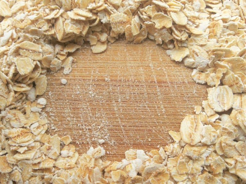 Cercle d'avoine sur le fond en bois photos stock