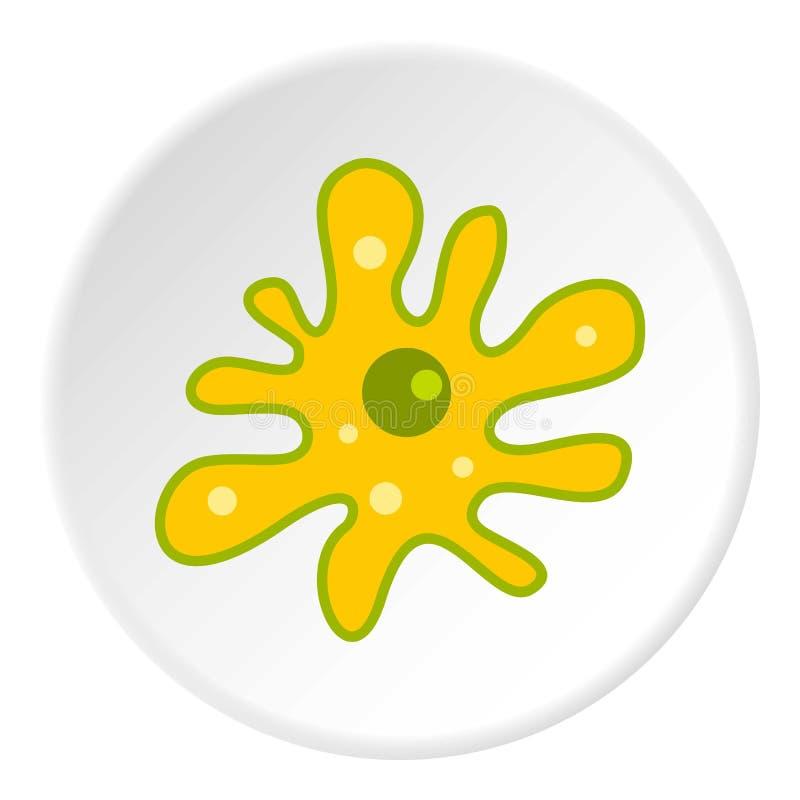 Cercle d'icône d'amibe illustration libre de droits