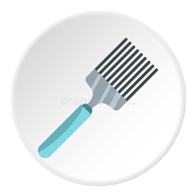 Cercle d'icône de spatule de cuisine illustration libre de droits
