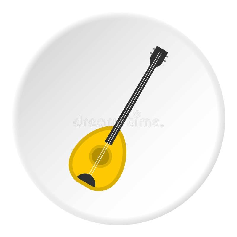 Cercle d'icône d'instrument de musique de baglama de Saz illustration libre de droits