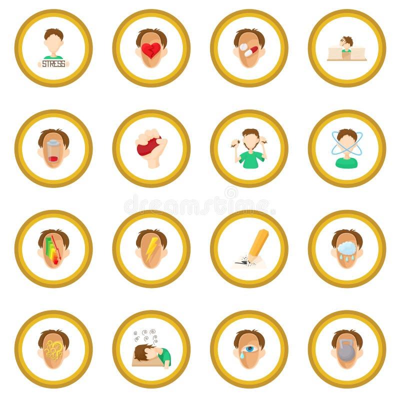 Cercle d'icône d'effort illustration stock