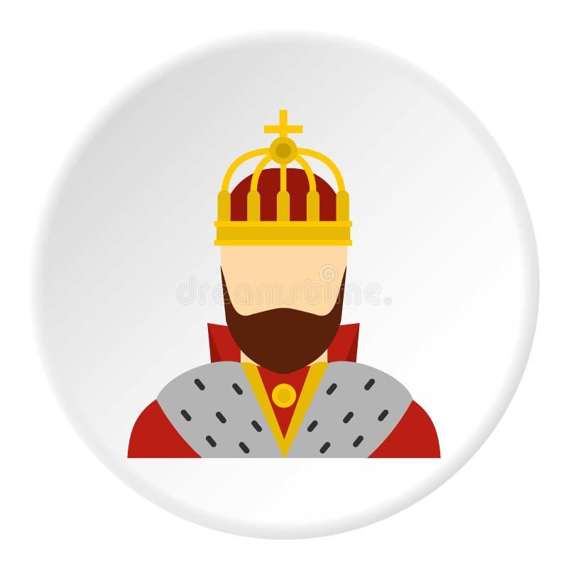 Cercle d'icône de roi illustration de vecteur