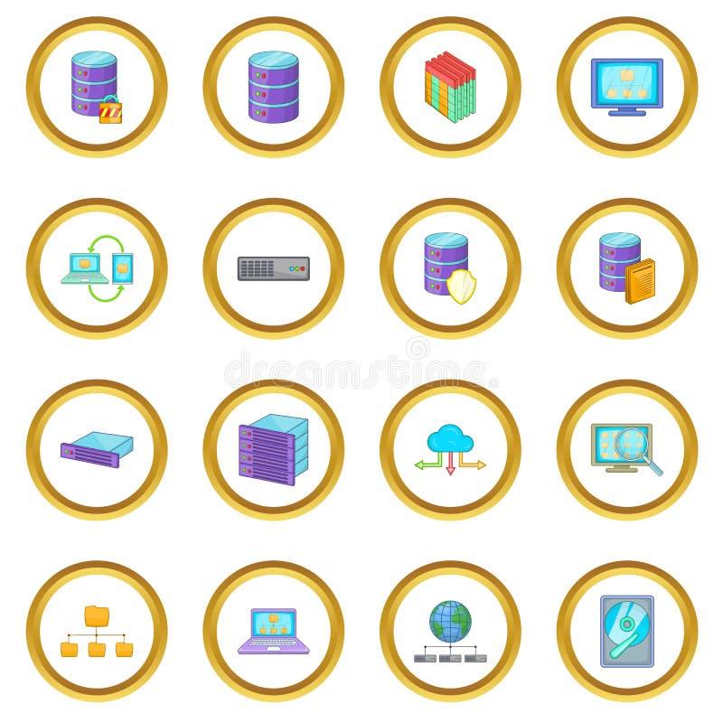 Cercle d'icônes de base de données illustration de vecteur