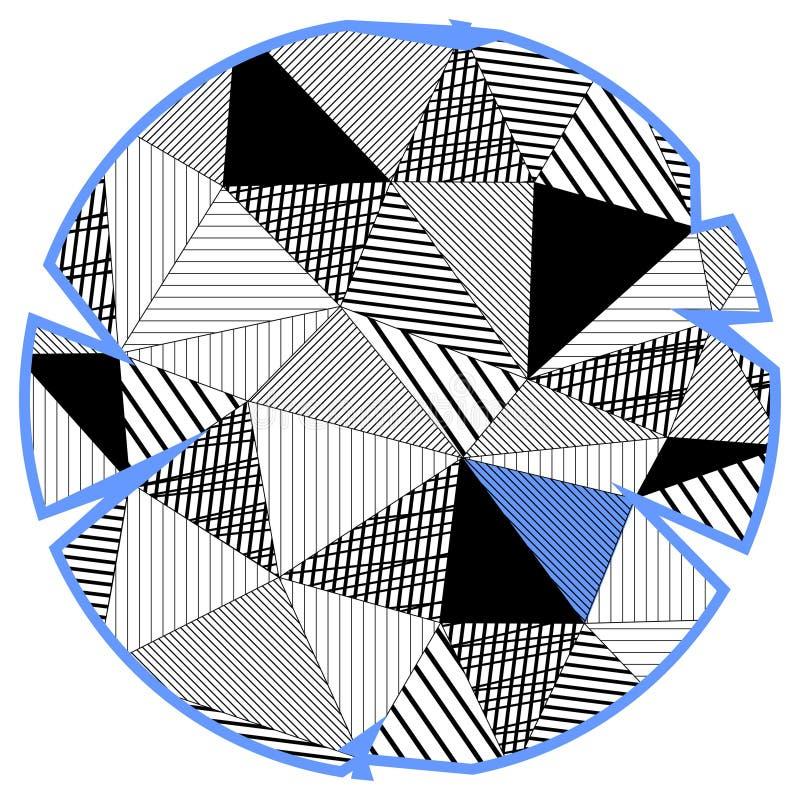 Cercle dans le bas poly style illustration de vecteur