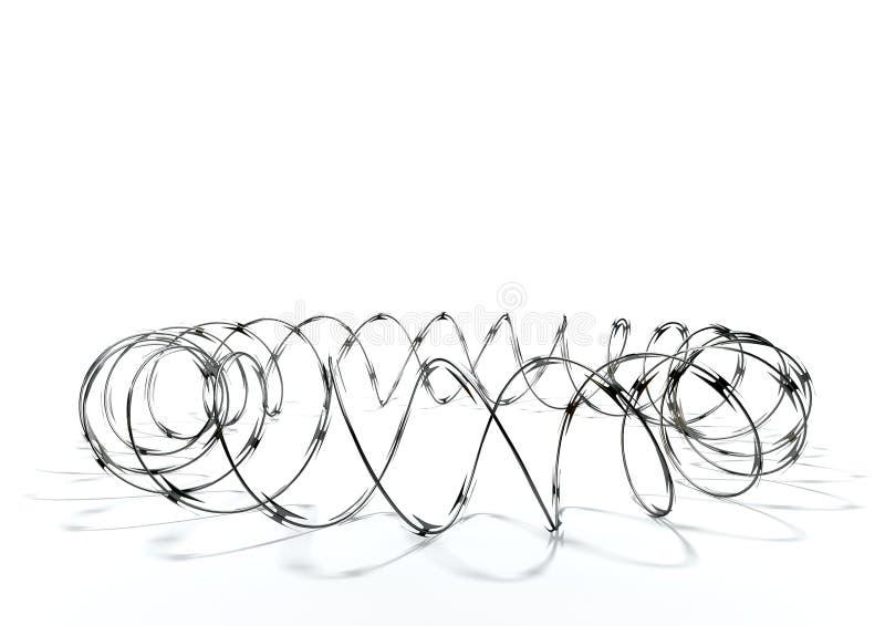 Cercle de barbelé illustration libre de droits