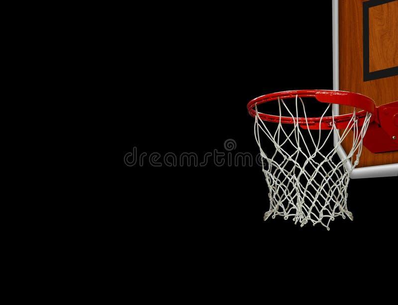 Cercle de basket-ball au-dessus de noir photo libre de droits