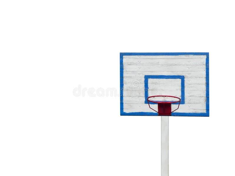 Cercle de basket-ball d'isolement sur la photo horizontale de fond blanc photos stock