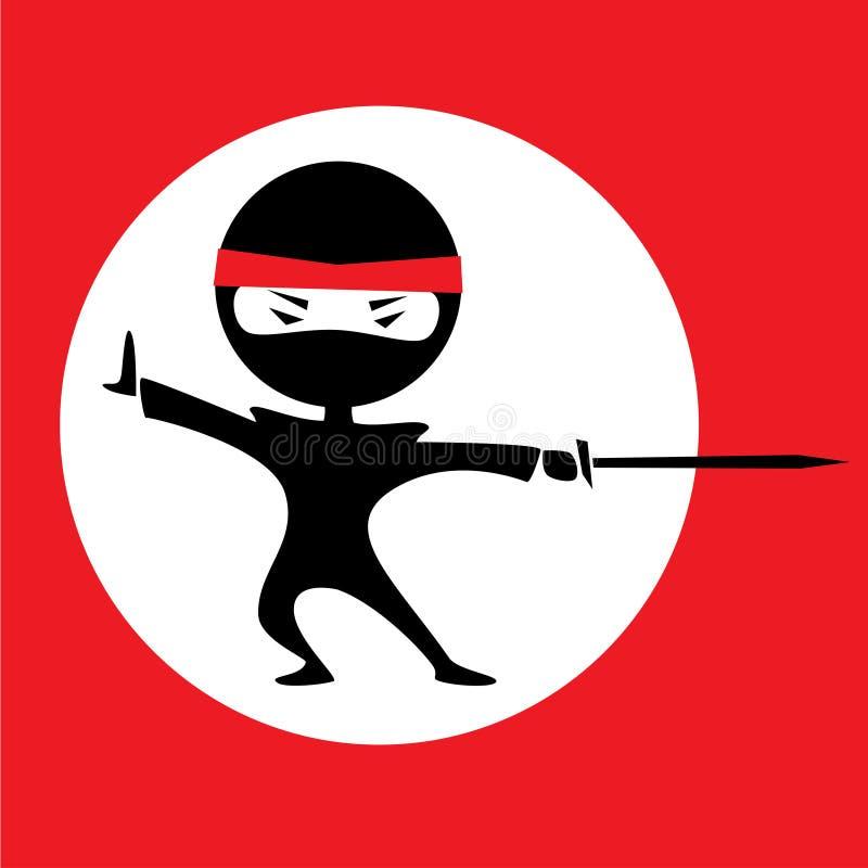 Cercle de blanc de Ninja illustration de vecteur